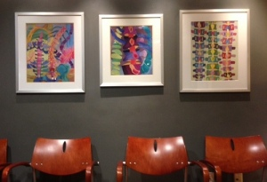 """The """"Spine Place"""" at Planet Rehab - note the fun spine artwork"""