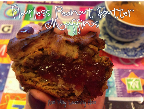 Flourless PB Muffins | Grain Free, Dairy Free | Ann Ning Learning How