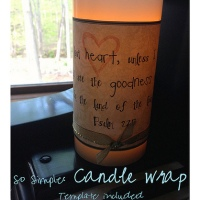 155.  So Simple:  Candle Wrap