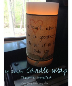 155.  So Simple:  Candle Wrap Template