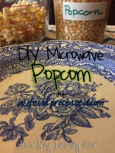 So Simple:  DIY Microwave Popcorn || Ann Ning Learning How