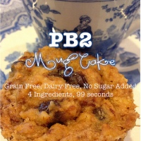 171.  PB2 Mug Cake [Grain Free, Dairy Free, No Sugar Added]