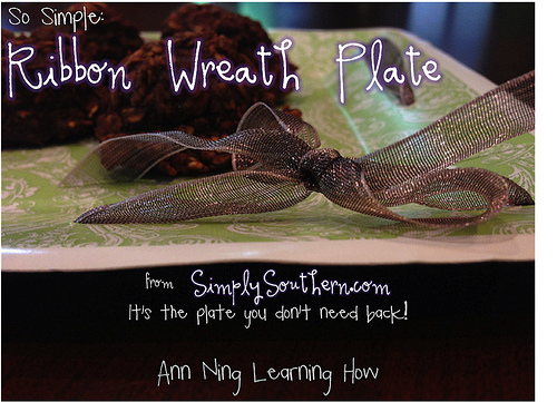 """So Simple""""  Ribbon Wreath Plate from SimplySouthern.com 