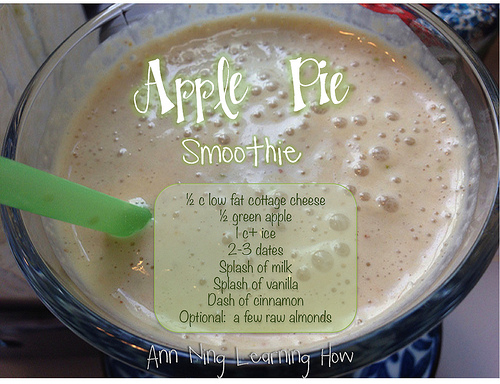Apple Pie Smoothie || Ann Ning Learning How