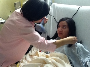 AVM Recovery Hair in 2nd Hospital || Ann Ning Learning How
