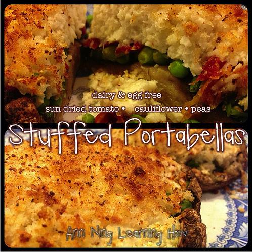 Stuffed Portabellas [Dairy & Egg Free] || Ann Ning Learning How