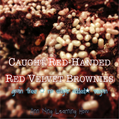 Red Velvet Brownies [Grain Free, Vegan, Colored/Sweetened Naturally w Beets] || Ann Ning Learning How
