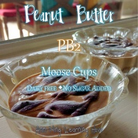 206.  Peanut Butter (PB2) Moose Cups [Dairy Free, No Sugar Added]