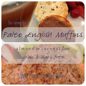 So Simple: Paleo English Muffins | Almond or Coconut, Single Serving, Microwave | Ann Ning Learning How