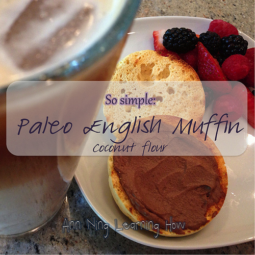 So Simple:  Paleo English Muffin (Coconut Flour, Single Serving, Microwave) | Ann Ning Learning How