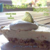 222.  Lime Cream Icebox Pie [Grain Free and Vegan]