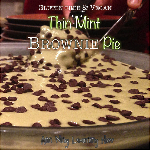 Thin Mint Brownie Pie |Gluten Free & Vegan | Ann Ning Learning How