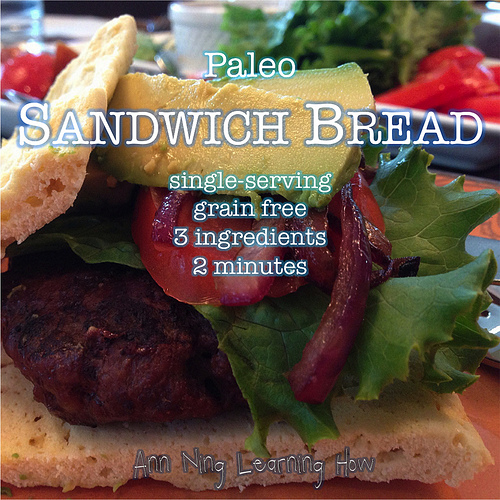 Paleo Sandwich Bread [Grain Free; Coconut Flour] 3 ingredients, 2 min | Ann Ning Learning How