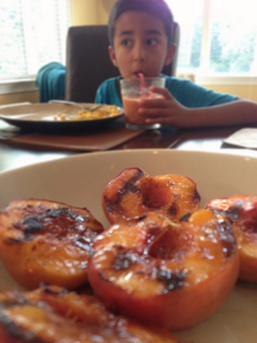 Grilled Peaches | Ann Ning Learning How