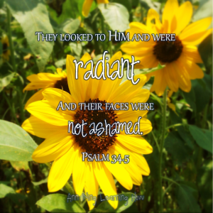 Psalm 34 Sunflower | Downloadable print | Ann Ning Learning How