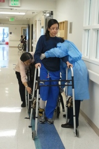 Learning How to Walk Again | Post AVM Rupture Inpatient | Ann Ning Learning How