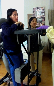 Watching the Clock - Standing Frame at RIO | Ann Ning Learning How