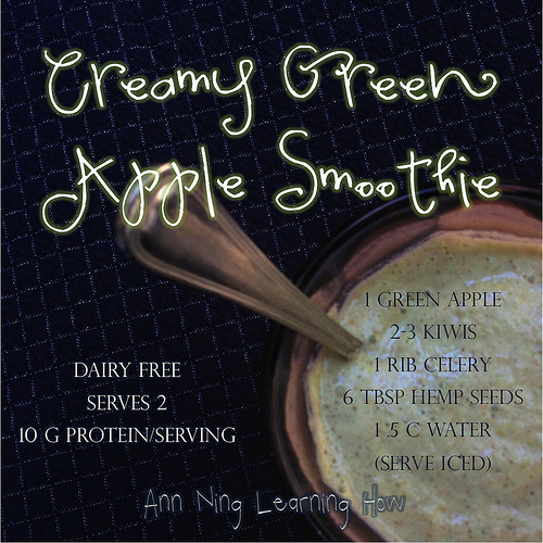Creamy Green Apple Smoothie|Dairy Free 10 g Protein | Ann Ning Learning How