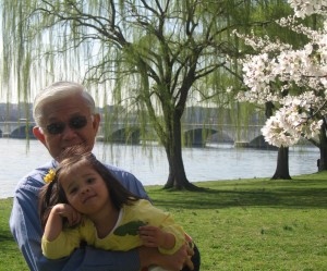Dad and karine - Cherry Blossoms
