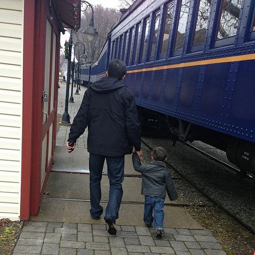 Ezra's Birthday train ride, 2012.