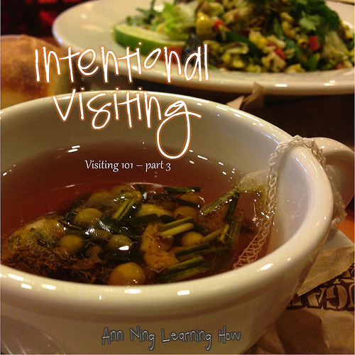 Intentional Visiting | Visiting 101 part 3| Ann Ning Learning How