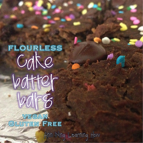 Cake Batter Bars| w beans, GF, vegan | Ann Ning Learning How