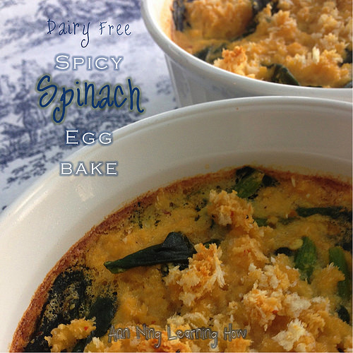 Spicy Spinach Egg Bake | Dairy Free | Ann Ning Learning How