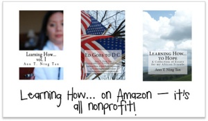 Ann Ning Learning How |Nonprofit books on Amazon!