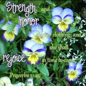 343.  Strength & Honor