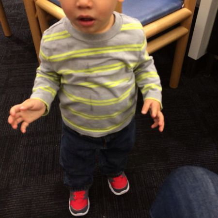Peter and his first pair of Big Boy Shoes